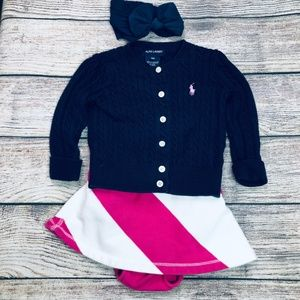Ralph Lauren 3pc skirt/sweater set
